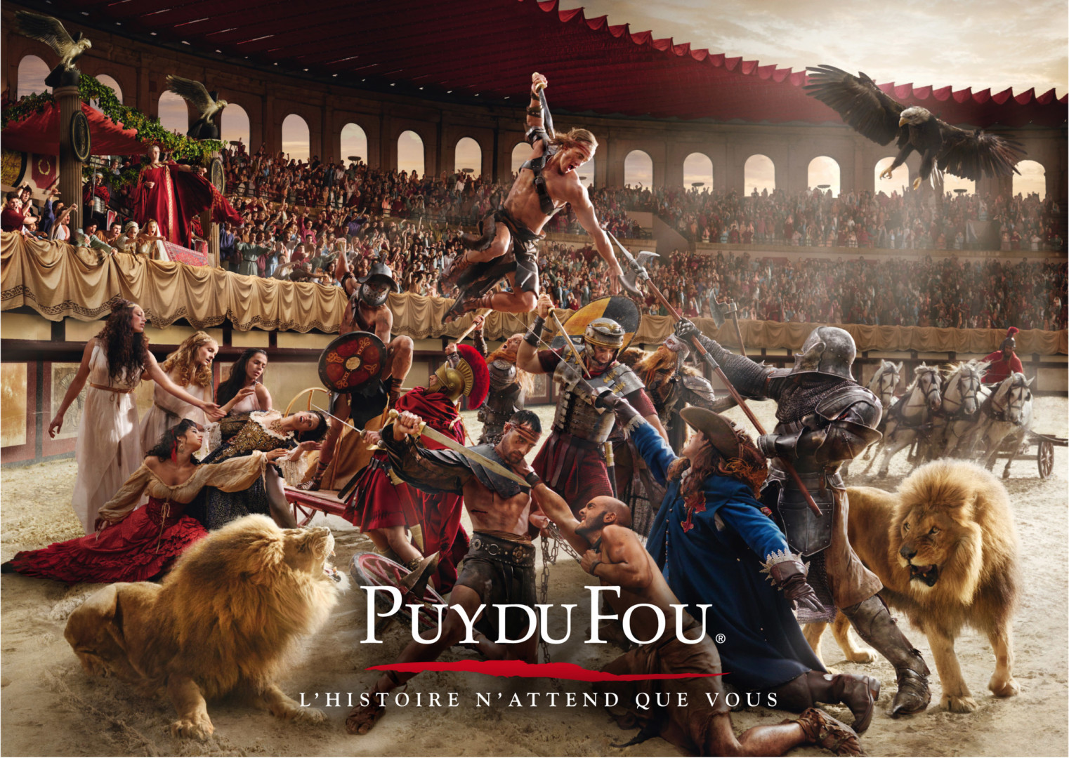 Puy du Fou // Grand Parc + Cinéscénie // 11 juin 2022 = 88€ adultes / 77€ enfant